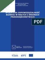 Bąka M., Kulawczuk P. (red.) Społeczna odpowiedzialność biznesu w małych i średnich przedsiębiorstwach