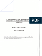 El Acogimiento Familiar en El Sistema Argentino de Proteccion de Derechos
