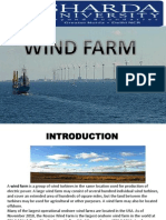 Eee Project ON WIND FARM FIRST YEAR B.TECH