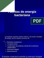 Metabolismo y Fuentes de Energia Bacteriana