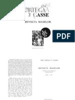 Revolta Maselor. Ortega Y Gasset
