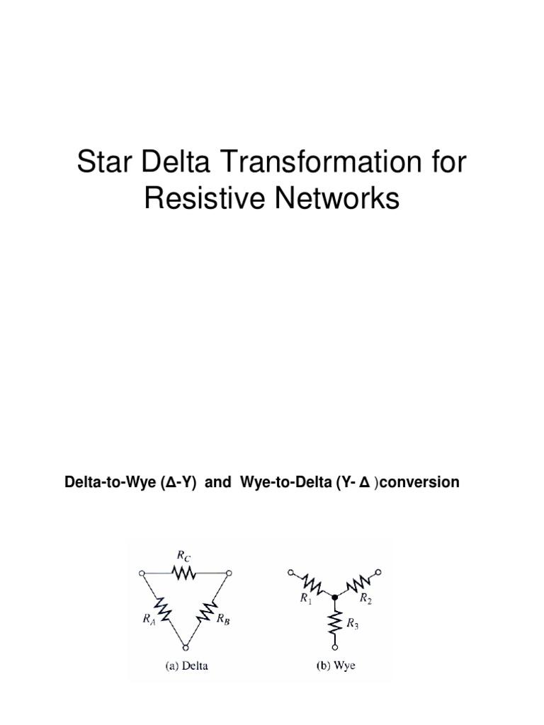 Star to delta conversion derivation pdf