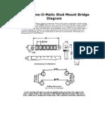 Gotoh TuneOMatic StudBridge Diagram