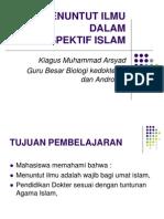 Menuntut Ilmu Dr Perspektif Islam
