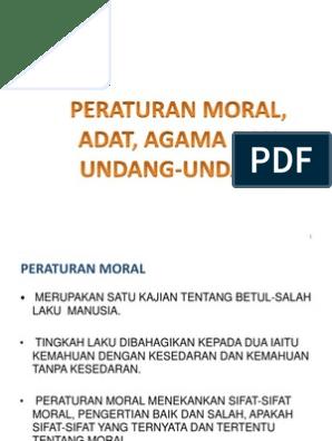 Kuliah 2 Peraturan Moral U2 Agama Adat