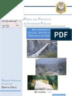 Perfil Puente Bailey Municipalidad Huaylas