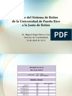 Infrome del SRUPR Junta de Retiro 19 abril Final versión 25 de abril 2013
