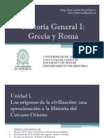 Cronograma de Sesiones y Exposiciones Historia Gral I
