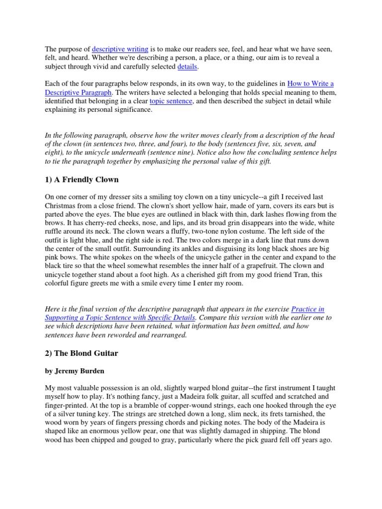 Movie Review Essay  Essay About Your Life also Essay About Student Descriptive Essay  Guitars  Clown Essay Generation Gap