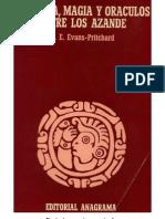 Evans Pritchard Brujeria Magia y Oraculos Entre Los Azande