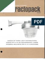 Holophane Refractopack Series Brochure 1972
