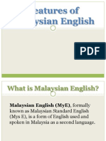 Features of Malaysian English