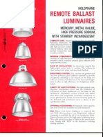 Holophane Remote Ballast Luminaires Brochure 1972