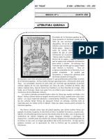 4to año - LIT - Guía 1 - Literatura Quechua