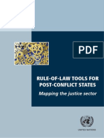 RULE-OF-LAW TOOLS FOR  POST-CONFLICT STATES Mapping the justice sector