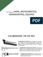 Maquinaria, Instrumentos, Herramientas, Equipos Ok