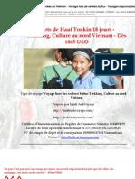 Sercrets de Haut Tonkin 18 jours - Trekking, Culture au nord Vietnam - Dès 1065 USD