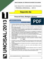 Prova - Segundo Dia - Tipo 1 - UNCISAL 2012