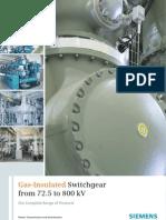 72_800 Gas Insulated Switchgear Siemens