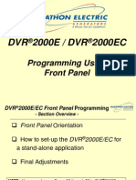 DVR2000E Training--SECT #5 (Programming Using the Front Pane