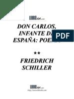 Don Carlos Infante de España- Schiller