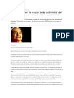 Alice Sommer, la mujer 'más optimista' del mundo