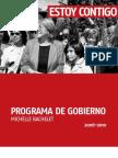 Programa Gobierno Bachelet 2006 2010