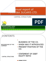 debt ratio-annual Report Of mawana sugars
