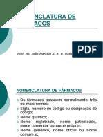 1 - NOMENCLATURA DE FÁRMACOS