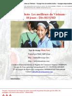 Voyage Photo  Les meilleurs du Vietnam - 10 jours - Dès 813 USD