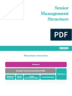 Barnet Council Management Structure at April 13