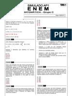 Ap1 Simulado Enem Matematica t1 Gabarito