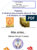 Palestra Influencia Principios Eticos Yoga-Budismo Na Meditacao