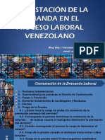 CONTESTACIÓN DE LA DEMANDA PROCESO LABORAL VENEZOLANO MARCOS GUERRERO