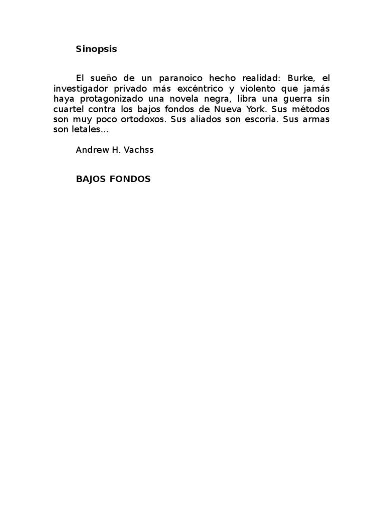 Vachss Andrew - Bajos Fondos