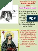 Santa Brígida y santa Catalina de Escocia
