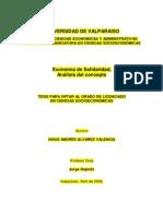 Tesis Economia de La Solidaridad. Hugo Lvarezl