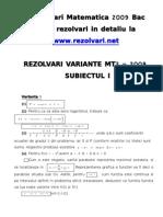 Rezolvari Matematica 2009 - www.rezolvari.net