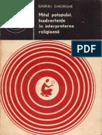 171 Gabriel Gheorghe - Mitul potopului. Inadvertenţe în interpretarea religioasă [1982]