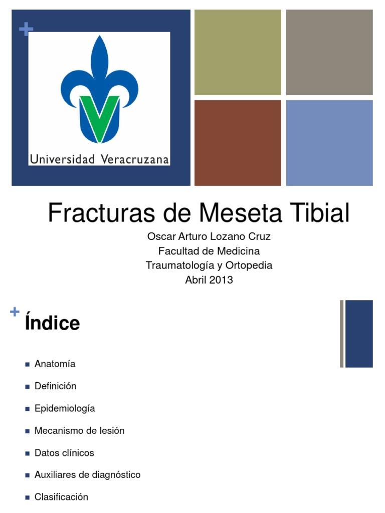 fracturas de la meseta tibial epidemiología de la diabetes
