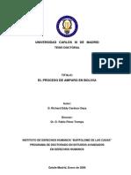 Proceso de Amparo en Bolivia Richard Cardozo Daza