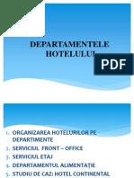 Departamentele hotelului