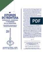 IX Estudios de Frontera Homenaje a Emilio Molina López 2013