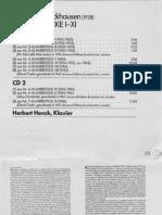 Stockhausen - Klavierstucke I-XI