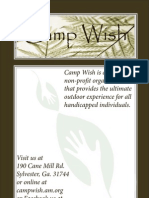 brochure for camp wish