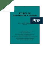 DUYVENDAK  -  Études de philosophie chinoise