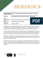 21 - Caracterizacao Do Perfil Socio-Demografico de Gestantes Adolescentes- Revisao Da Literatura Brasileira