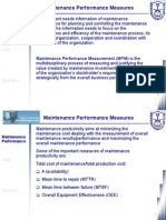 Class 13 - Maintenance Performance Measures
