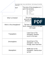 weather and climate unit flashcards