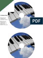 CD-Etiketten-Vorlage 116mm Motiv Klavier